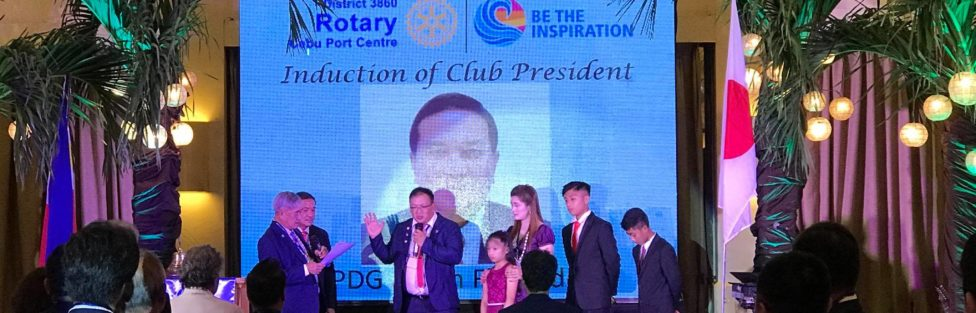 Governor Bing Garcia  and PDG Anton inducted President Rodien Paca into office